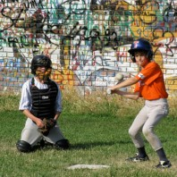 Serbian Youth Playing Baseball